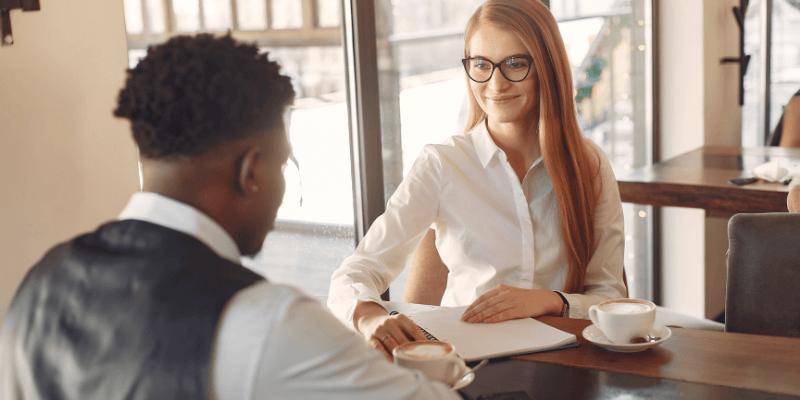 Recruiter interviewing candidate